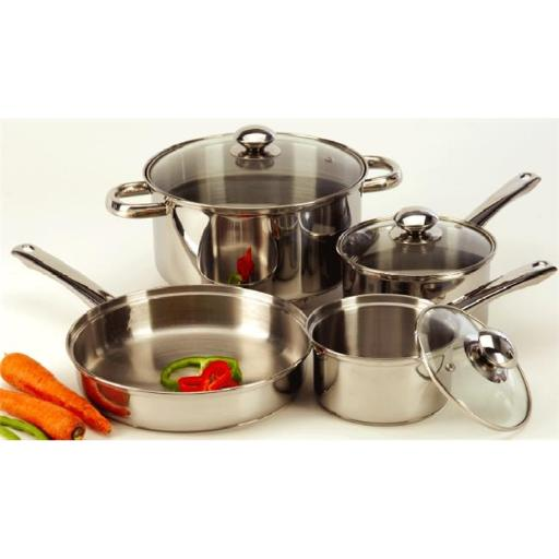 Prime Pacific 500 7 Piece Stainless Steel Cookware Set