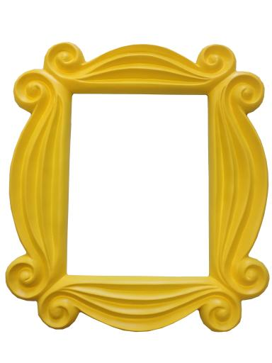 My Party Shirt Friends Yellow Peephole Picture Frame Door Tv Show