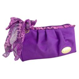 Summer Bliss Compact Cosmetic Bag, Purple