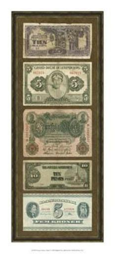 Foreign Currency Panel I Poster Print by Vision studio (9 x 21) EZTEZ0SWAYX2LNTD
