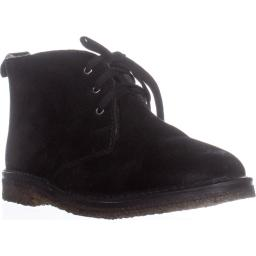 VINCE Candice Lace-Up Chukka Boots, Black Suede Candice