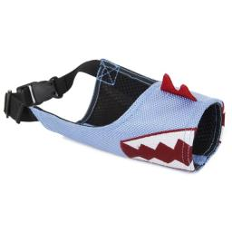 Pet Life MZ1BLSM Fumigation Adjustable Designer Dog Muzzle, Blue - Small