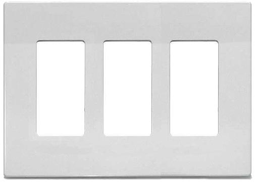 Cooper Wiring 9523ws Aspire Wallplate, 3-gang, White Satin