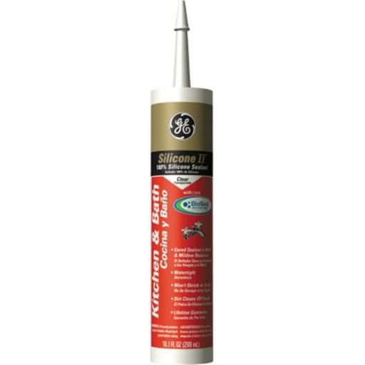 Momentive Clear Silicone Kitchen Sealant GE5040 Pack of 12
