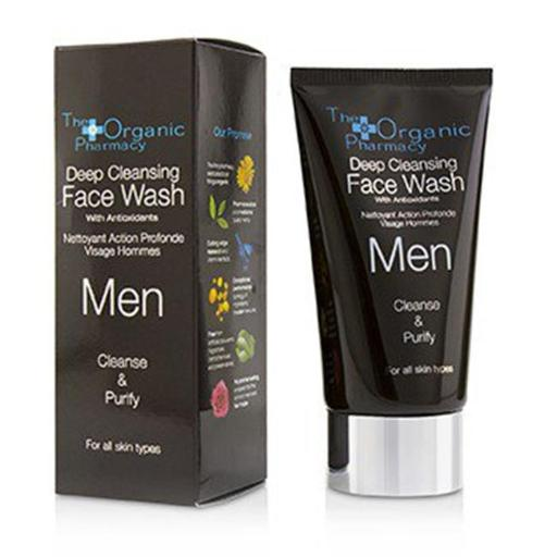 The Organic Pharmacy 221211 75 ml Men Deep Cleansing Face Wash - Cleanse & Purify