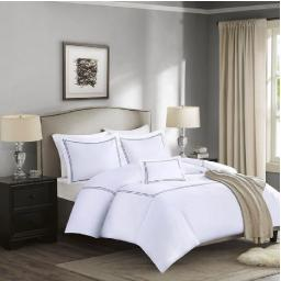 Madison Park Luxury Collection 5 Piece King Comforter Set Gray