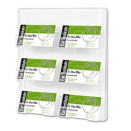 Deflect-O Corporation DEF70601 Business Card Holder- 6 Slots- 8-.50in.x1-.50in.x9-.75in.- Clear