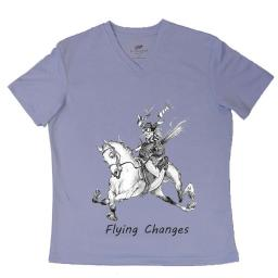 Tell it with Tees EC84MBL3 Comical Horse Tee Shirts Flying Changes, Blue - Medium