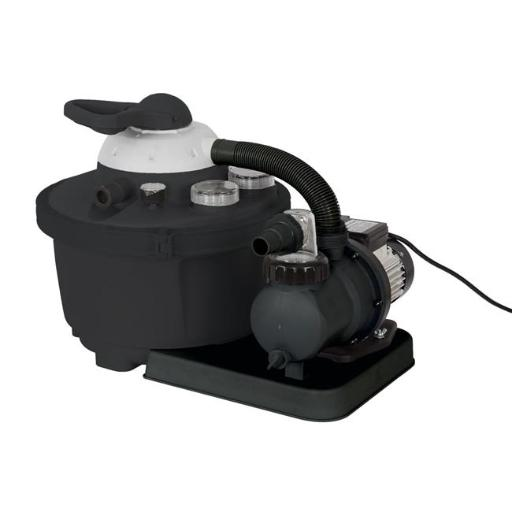 Flowxtreme NE4487 16 in. & 35 lbs Sand Filter System for Above Ground Pools, Black