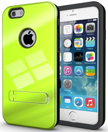 LIME GREEN SLIM TOUGH SHIELD GLOSSY ARMOR HYBRID CASE COVER SKIN FOR iPHONE 6 15B086E702ECF0E5