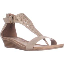 Kenneth Cole REACTION Great Gal 3 Wedge Sandals, Soft Gold Great Gal 3