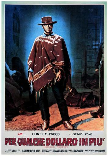 For A Few Dollars More Clint Eastwood On Italian Poster Art 1965. Movie Poster Masterprint