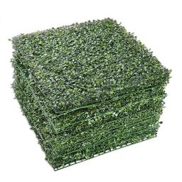 """Yescom 12-Pack 20""""x20"""" Artificial Boxwood Hedge Mat with Cable Ties UV Privacy Fence Screen Greenery Panel Outdoor Decor"""