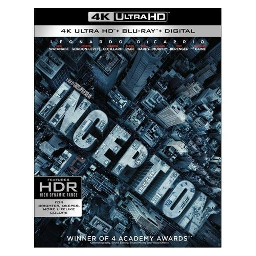 Inception (blu-ray/4k-uhd/2010/ultraviolet/4 disc) NBASBONCQCZA0AZG
