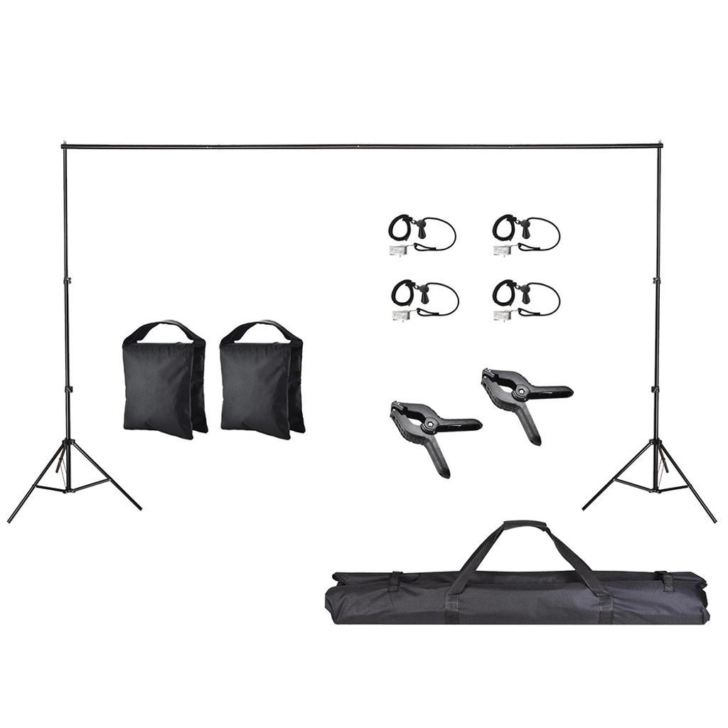 10Ft Adjustable Photo Backdrop Photo Vedio Studio Backdrop Support Stand Crossbar Kit Portrait Shooting