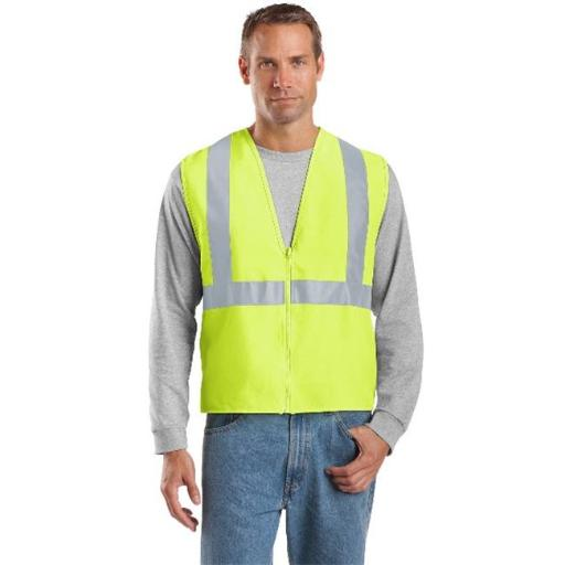 CSV400 Mens ANSI 107 Class 2 Safety Vest, Safety Yellow & Reflective - Small & Medium