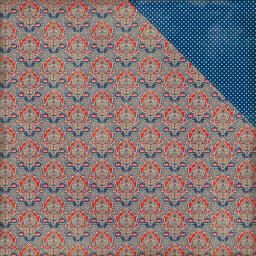 "Heroic Double-sided Cardstock 12""x12""-#2 Paisley Damask/mini Dot"