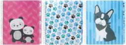 """Studio C 5-subject Notebook 11""""x8.5"""" Assorted Colors-hair Of The Dog, College Rule, 150 Sheet"""