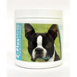 Healthy Breeds 840235103769 Boston Terrier Z-Flex Minis Hip & Joint Support Soft Chews - 60 Count