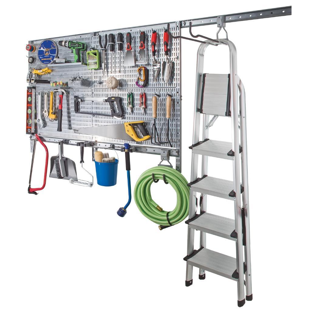 Allspace 63 Piece Peg Board Wall Organization System Utility Panels - 450048HF
