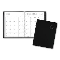 Contemporary Monthly Planner 8.75 X 7 Black Cover 2021   Total Quantity: 1