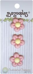 BaZooples Buttons Pink Flowers