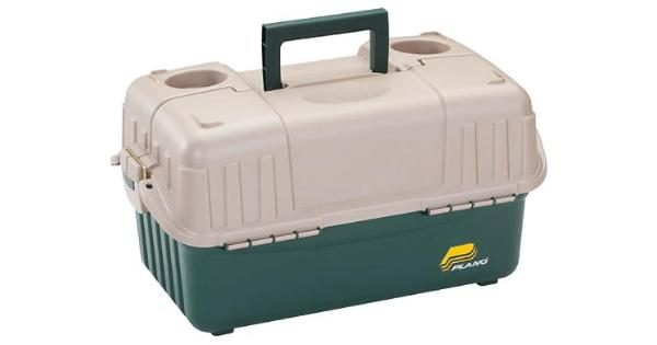Frabill 861600 frabill hip roof tackle box w/6 trays - green/sandstone thumbnail