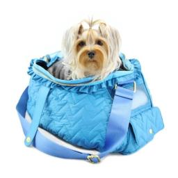 Dogs of Glamour DG00003BL 16 x 8.5 x 11 In. Fab Messenger, Blue