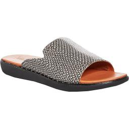 Fitflop Womens Saffi Dotted-Snake Animal Print Casual Slide Sandals