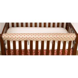 Cotton Tale RD4F Raspberry Front Crib Rail Cover Up Set