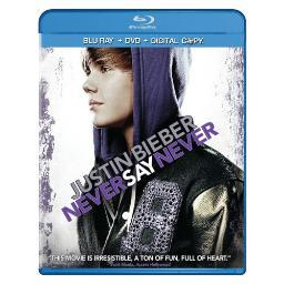 Justin bieber-never say never (combo/br/dvd/dc/2 discs)       nla BR081044