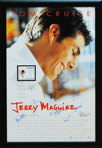 Jerry Maguire - Signed Movie Poster QW1W4JSZDTWYD2N4