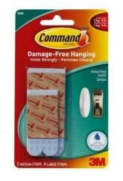 Command Bath22-es Water-resistant Refill Strips Assorted Size