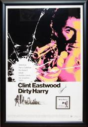 Dirty Harry - Signed Movie Poster in Wood Frame with COA