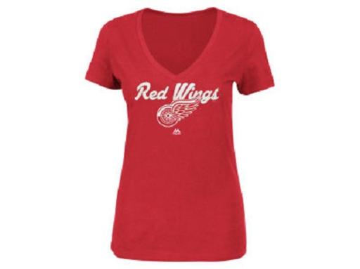 Detroit Red Wings NHL Majestic V-Neck Top
