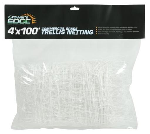 Grower's Edge Commercial Grade Trellis Netting Grower's Edge Commercial Grade Trellis Netting 4 ft x 100 ft (10/Cs)