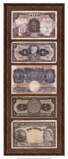 Foreign Currency Panel II Poster Print by Vision studio (9 x 21) UAL0XSW8Q8ONDM5S