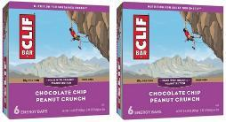 Clif Energy Bars Chocolate Chip Peanut Crunch 2 Box Pack