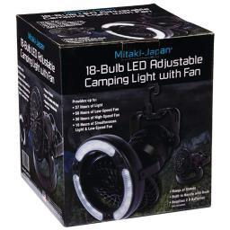 Mitaki-Japan ELANTF18 Mitaki-japan 18-bulb Led Adjustable Camping Light With Fan