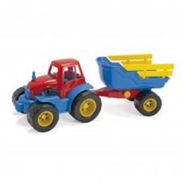American Educational DT-2135 Tractor with Trailer Plastic Wheel for Baby Toys
