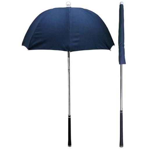 RainStoppers W058N Navy Golf Bag Deflector Umbrella with Golf Grip Handle, 3 Piece