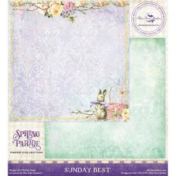 """Blue Fern Spring Parade Double-sided Cardstock 12""""x12""""-sunday Best"""
