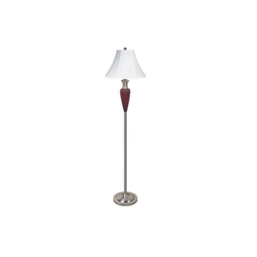 Q-Max 6232FSN 65 in. Wooden Traditional Floor Lamp - Silver