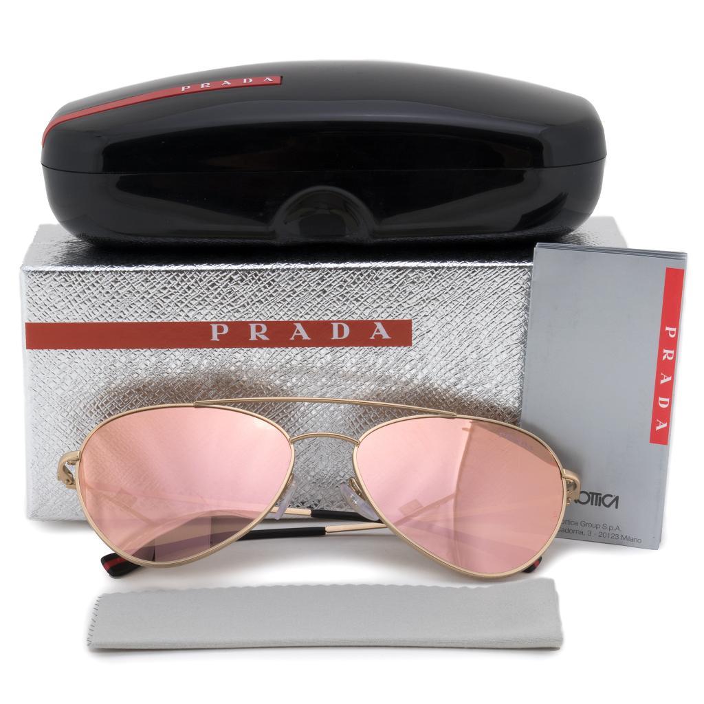 41454ff527cc Prada Prada Aviator Sunglasses PS50SS 1BK6Q2 60