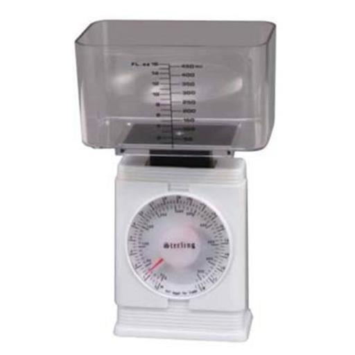 Fit & Fresh Food Preparation Food Scale measures up to 16 oz. in 1/2 oz. increments or 500 grams in 10 gram increments
