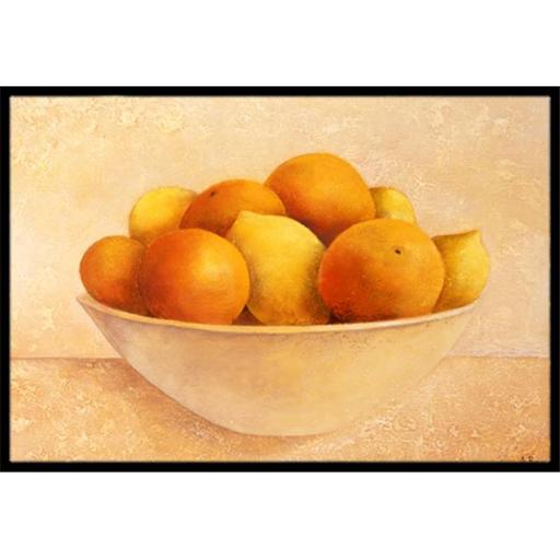 Carolines Treasures BABE0085MAT Oranges & Lemons in a Bowl Indoor or Outdoor Mat, 18 x 27