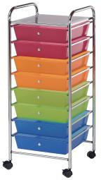 Alvin sc8mc-12 storage cart 8-drawer (wide) multi-colored