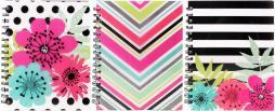 """Studio C Ideal Notebook 8.35""""x6.5"""" 120 Sheets-sugarland, College Rule, Assorted Colors"""