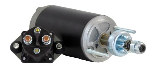 NEW CCW STARTER MOTOR FITS FORCE MARINE 1501 1503 1508 150ELPT 150HP W/ SOLENOID