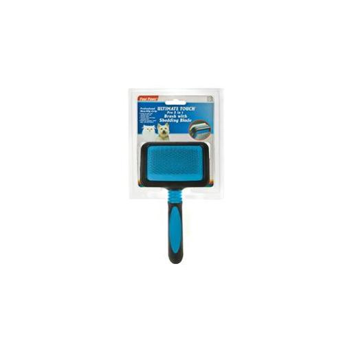 FOUR PAWS PRODUCTS LTD MAGIC COAT PRO 2 IN 1 BRUSH WITH SHEDDING BLADE MEDIUM 3BDC00B333BFE016